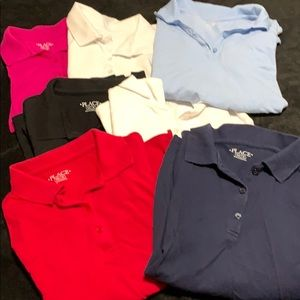 Lot of 7 Children's Place Collared Shirts
